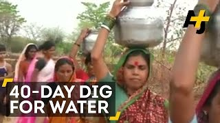 Indian Man Digs Up Own Well