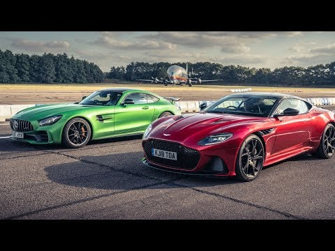Aston Martin DBS Superleggera vs Mercedes-AMG GT R | Drag Races | Top Gear