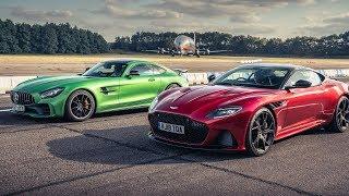 Aston Martin DBS Superleggera vs Mercedes-AMG GT R | Drag Races | Top Gear
