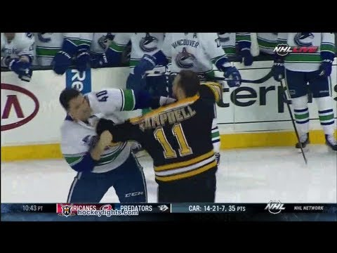 Gregory Campbell vs. Maxim Lapierre