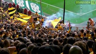 Stimmung BVB Gästeblock: Mönchengladbach - Borussia Dortmund 23.04.2011 31. Spieltag (FULL HD)