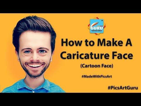 PicsArt Editing Tutorial : How to Make a Caricature Face (PicsArt Cartoon Face)