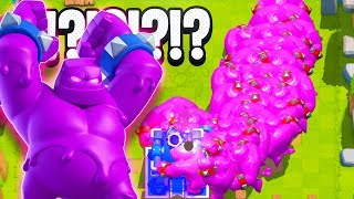 ELIXIR GOLEM GAMEPLAY LAUNCH in CLASH ROYALE NEW UPDATE!