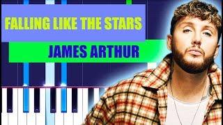 James Arthur - Falling Like The Stars Piano Tutorial EASY