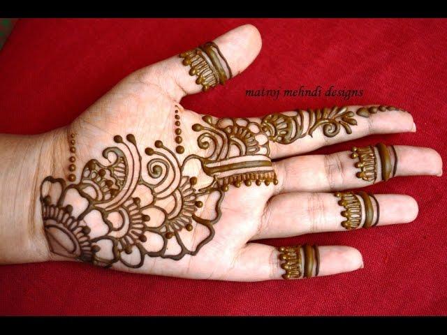Video Easy Simple Mehndi Henna Designs Tutorials Mehndi Design For