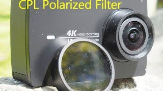 [4k] CPL polarized filter improves video clarity for Yi4k Action Camera