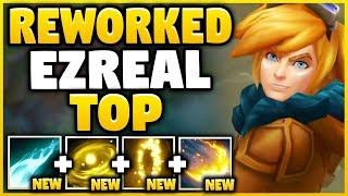 WORLD'S FIRST REWORKED EZREAL TOP GAMEPLAY! SEASON 8 REWORKED EZREAL GAMEPLAY! - League of Legends