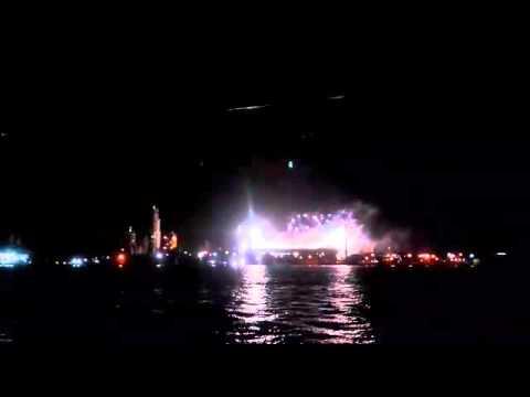 """""""Recibimiento de Rosario Central ante Godoy Cruz vista desde el río"""" Barra: Los Guerreros • Club: Rosario Central"""