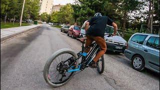 DRIFT BIKE - Elektrikli Bisikletle Yanlamak - Lastik Yakmak - Sıfır Çizmek