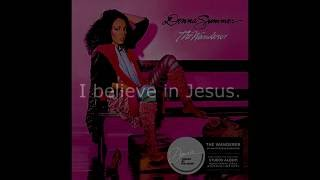 "Donna Summer - I Believe in Jesus LYRICS SHM ""The Wanderer"" 1980"