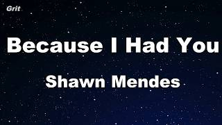Because I Had You   Shawn Mendes Karaoke 【No Guide Melody】 Instrumental