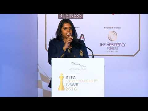 Sanjana Vijayakumar at Jaguar RITZ Entrepreneurship Summit 2016, Coimbatore