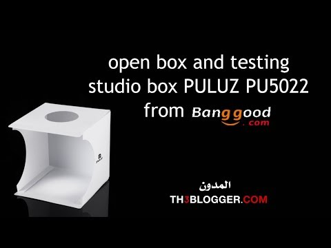 open box and testing studio box PULUZ PU5022 from banggood | th3 blogger