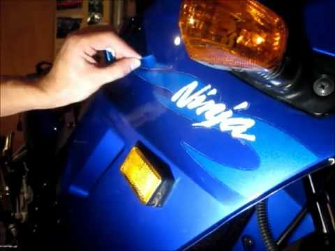 How to remove motorcycle decals