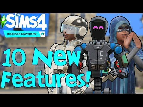 The Sims 4 Discover University: 10 NEW FEATURES You Might Not Know