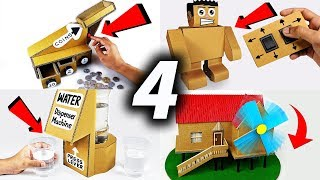 4 Amazing Science Fair Projects You Can Do at HOME from Cardboard DIY Compilation