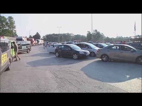 Αυξημένη η κίνηση στο σ/κό σταθμό του Προμαχώνα.Επετράπη η είσοδος σε Σέρβους που είχαν εγκλωβιστεί