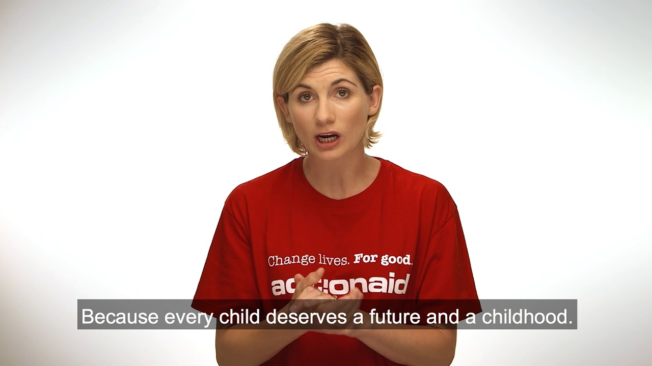 Jodie Whittaker on why she sponsors a child in conflict