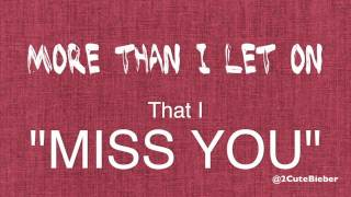 [HD] Ed Sheeran - Miss You (Lyrics Video)