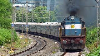 preview picture of video 'Erode WDM-3D Udyan Express erupts after seeing green!'