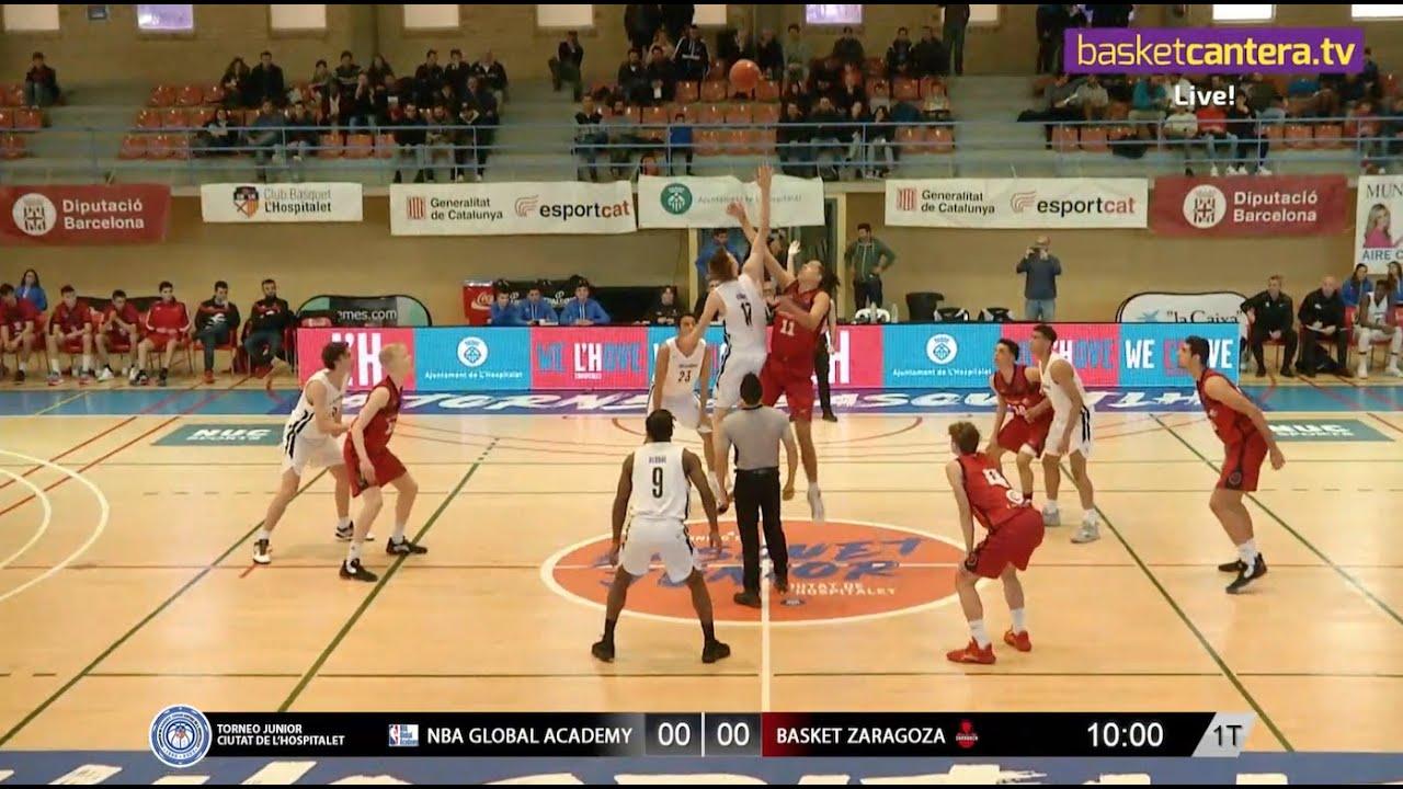 U18M - NBA GLOBAL ACADEMY vs BASKET ZARAGOZA. Torneo Junior L´Hospitalet 2020 (BasketCantera.TV)