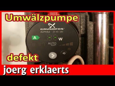 Heizungspumpe defekt Reparaturanleitung Grundfos Alpha 2 Umwälzpumpe  Tutorial Nr.218