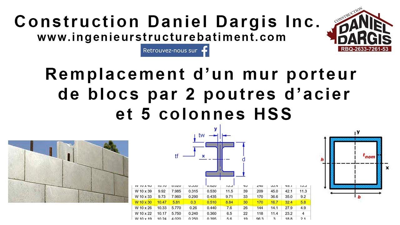 Ingenieur structure batiment montreal mur porteur daniel dargis ing