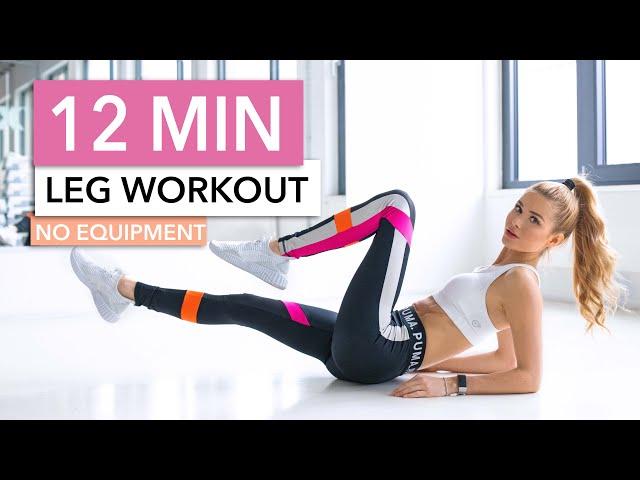 12 MIN LEG WORKOUT – Butt, Thighs & Calves // No Equipment I Pamela Reif