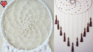 DIY Dreamcatcher Tutorial Easy || How To Make Dream Catcher With Wooden Beaded