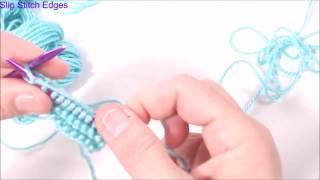 Working A Slipped Stitch Edge In Garter Stitch