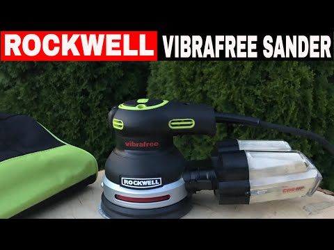 ROCKWELL 5″ ORBITAL SANDER REVIEW- VIBRAFREE TECHNOLOGY!! RK4248K