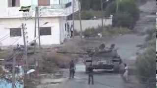 preview picture of video 'الجيش الحر يدمر عربة الشيلكا المتمركزة على  تل الهش شرق نوى 24 أكتوبر، 2013'