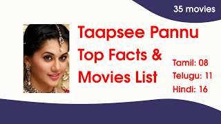 Actress Taapsee Pannu Movies List & Top Facts