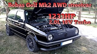 Brutal Golf Mk2 1233HP 16V Turbo Acceleration from Boba Motoring!!! FULL VIDEO 2015