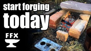 Start forging TODAY in your own backyard - no special tools required