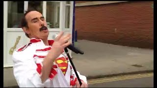 Freddie Mercury goes shopping #superman (live)