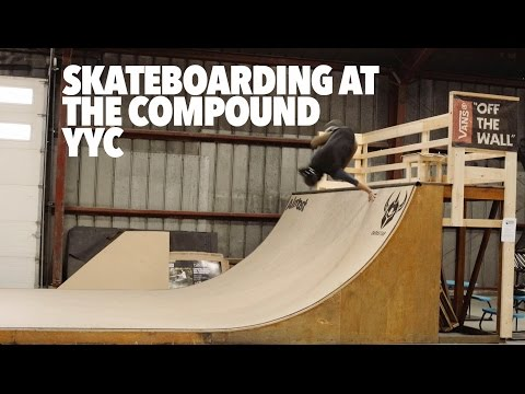 Skateboarding at The Compound YYC