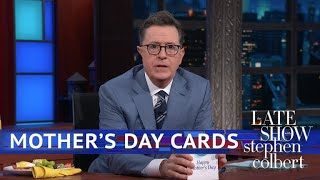Late Show First Drafts: Mother's Day Cards 2018 - Video Youtube