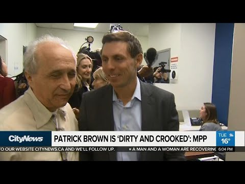 Patrick Brown has been engaged in 'dirty and crooked' politics: MPP