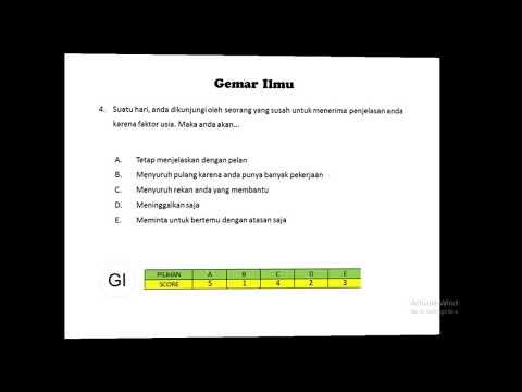 Soal Tes Karakteristik Pribadi ( TKP ) CPNS , Kedinasan Part 1