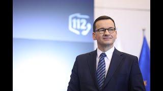 Mateusz Morawiecki podczas Europejskiego Dnia Numeru Alarmowego 112