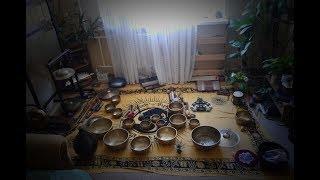 Поющие чаши. Тибетские чаши. Новый Рассвет. Медитация. Звукотерапия. Singing bowls sound therapy