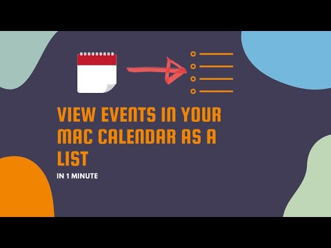 View Events as a List