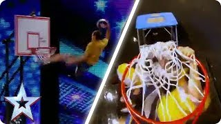 Face Team SLAM DUNK the competition | Britain's Got Talent Unforgettable Audition - Video Youtube