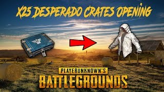 x25 Desperado Crates Opening PUBG | white Leather Hoodie Opening