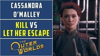 Kill Cassandra vs Let Cassandra escape | Distress Signal Side Quest  | The Outer Worlds