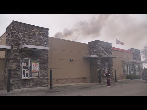Irate Burger King fan demands refund while store is on fire.