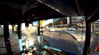 London bus ride, real time with original sound. Video map.