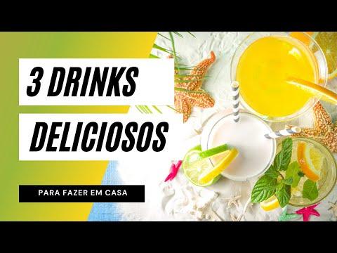 Aprenda agora 3 DRINKS DELICIOSOS para fazer EM CASA