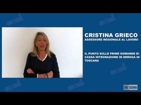 Cristina Grieco sulla cassa integrazione in deroga in toscana